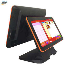 Good Quality Touch PC POS & Black All In One Pos Dual Screen Pos Cash Register 15 Inch Aluminum Alloy Base on sale