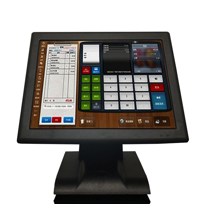 LED Resistive All In One Touchscreen Pos Terminal Cash Register J1900 15'' Aluminum Alloy Base