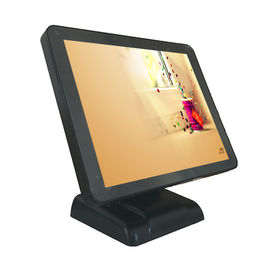Black Color 17 Inch Point Of Sale Terminal Single Touch Screen With Plastic Housing