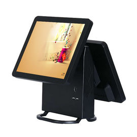 China Windows XP Restaurant Pos Dual Monitor 32G SSD 10 Point Capacitive Touchscreen factory