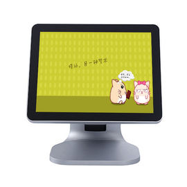China Silver Color Single Screen Retail Epos Systems High Sensitivity LCD / LED Diaplay factory