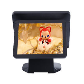 China Black Color Dual Screen Retail Epos Systems Aluminium Alloy Housing For Small Business factory