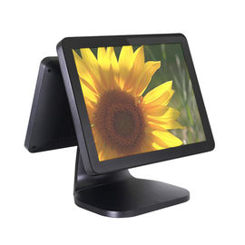 Professional Flat Double Side Dual Screen Pos 15.6 Inch With Fast Heat Emission