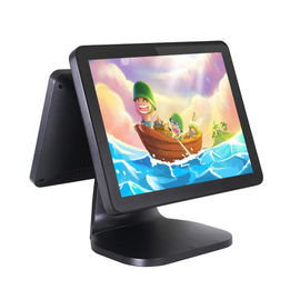 China Dual Screen 15 Inch Android POS Terminal High Definition CJ - A5D With NFC 4G factory