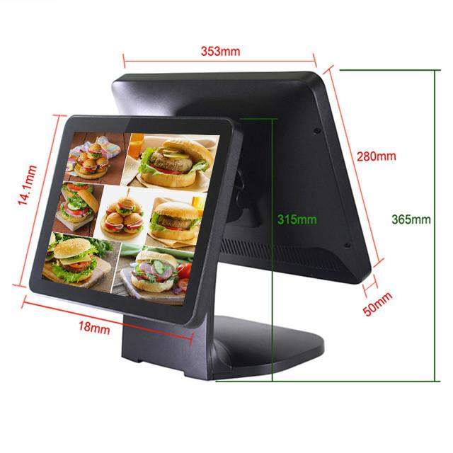 12 Inch Display Cash Pos Machine Aluminium Alloy Housing For Retail Industry
