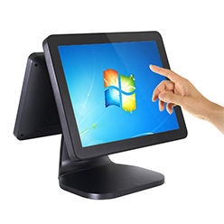 T670 15.6'' Widescreen touch screen pos all in one pc desktop pos system windows Border color and 12'' VFD Optional