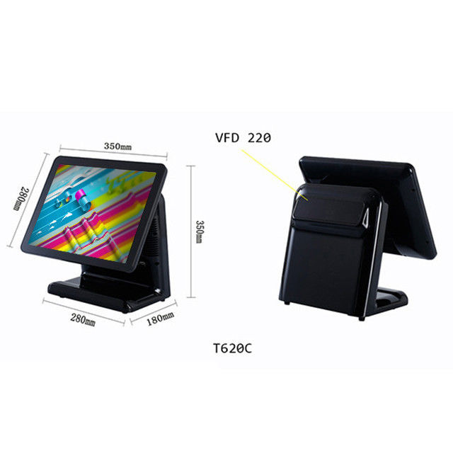 8 Digital LED Display All In One Pos Terminal I7 Dual - Core CPU For Payment System
